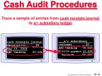 cash audit procedures51