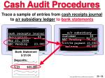 cash audit procedures52