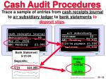 cash audit procedures53