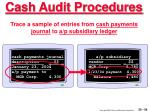 cash audit procedures54