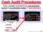 cash audit procedures55
