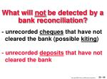 what will not be detected by a bank reconciliation40