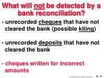 what will not be detected by a bank reconciliation41