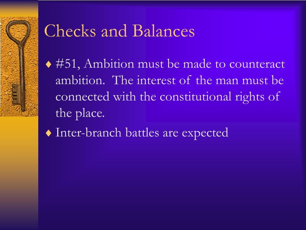checks and balances l.