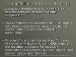 competition and innovation 1