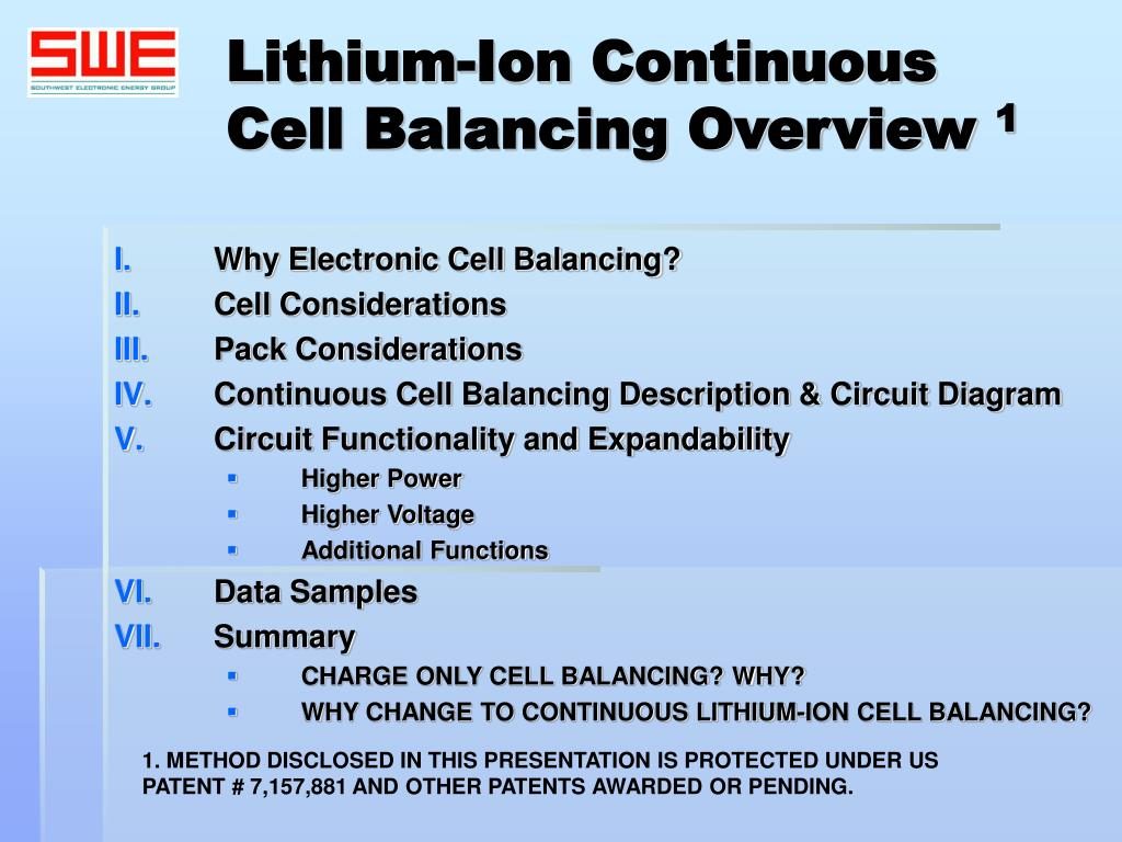 Ppt Lithium Ion Continuous Cell Balancing Overview 1 Powerpoint Lithiumion Battery Charger One Schematic L