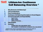 lithium ion continuous cell balancing overview 1