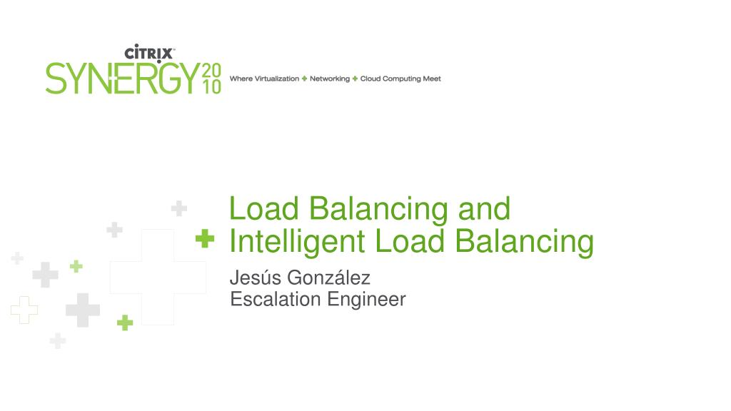 load balancing and intelligent load balancing l.