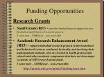 funding opportunities9