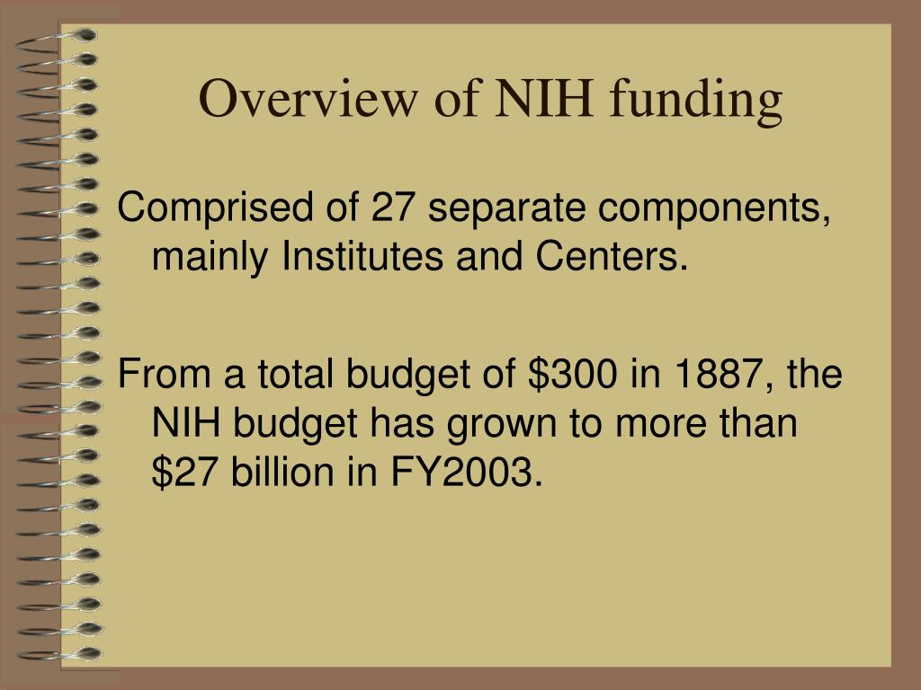 Overview of NIH funding