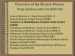 overview of the review process study sections within the msd irg