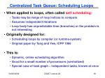 centralized task queue scheduling loops