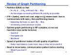 review of graph partitioning