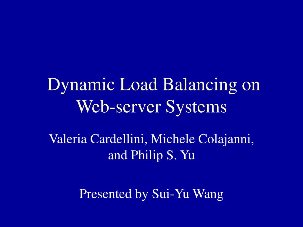 dynamic load balancing on web server systems l.