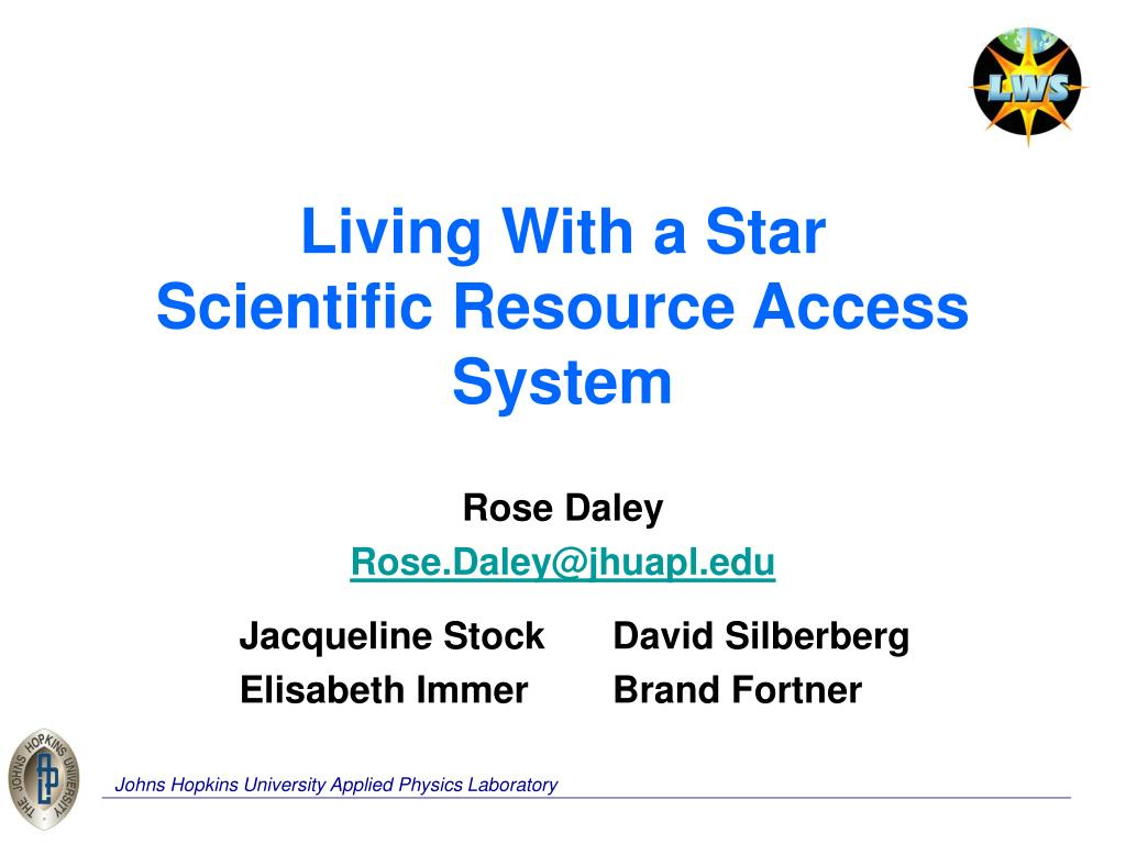 living with a star scientific resource access system l.