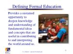 defining formal education