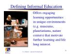 defining informal education