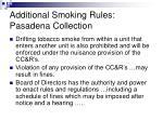 additional smoking rules pasadena collection