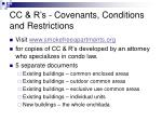 cc r s covenants conditions and restrictions