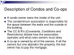 description of condos and co ops