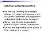 pasdena collection success