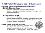 njcstme s graduate year 5 curriculum