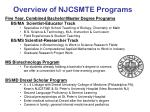 overview of njcsmte programs