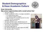student demographics kean academic culture