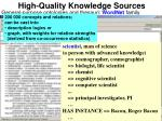 high quality knowledge sources