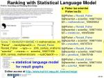 ranking with statistical language model