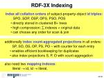 rdf 3x indexing