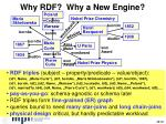 why rdf why a new engine