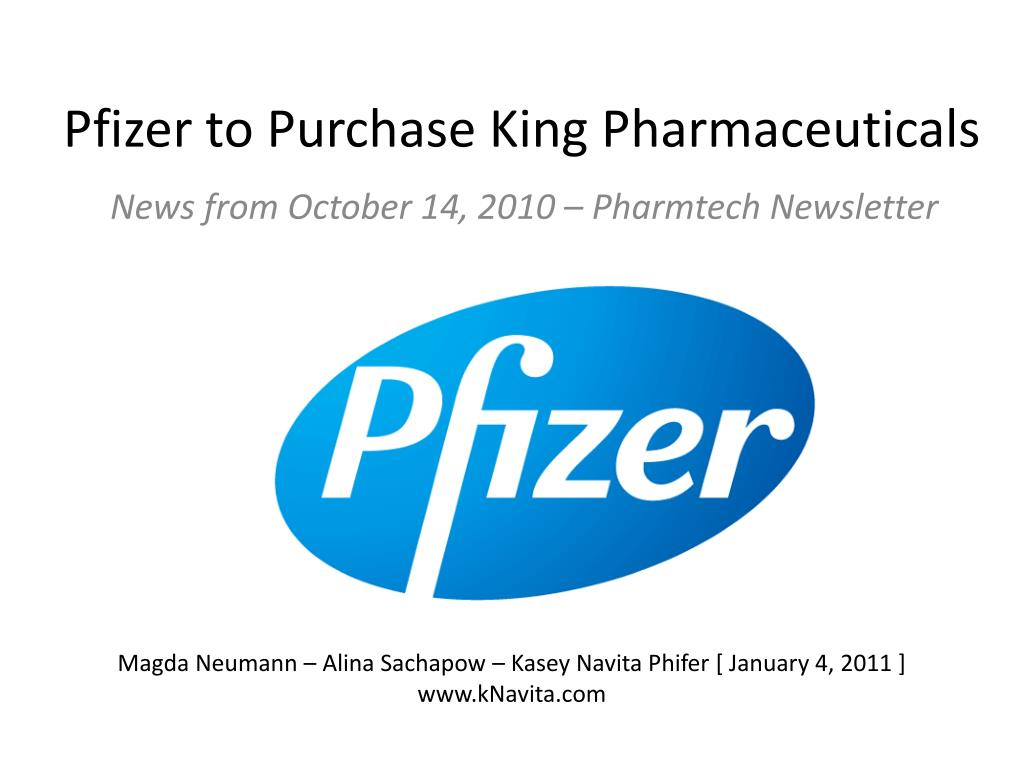 pfizer to purchase king pharmaceuticals l.