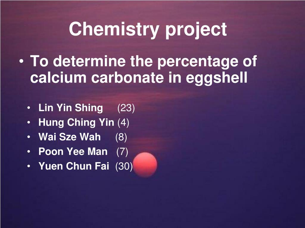 chemistry project l.