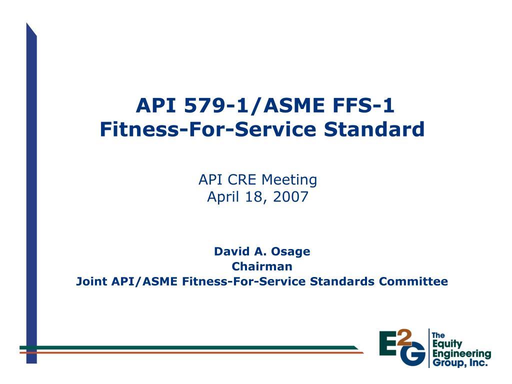 api 579 1 asme ffs 1 fitness for service standard l.