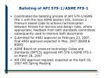 balloting of api 579 1 asme ffs 112
