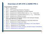 overview of api 579 1 asme ffs 19