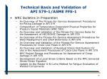 technical basis and validation of api 579 1 asme ffs 116
