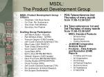 msdl the product development group
