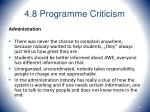 4 8 programme criticism40