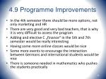 4 9 programme improvements43
