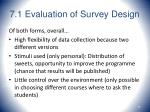7 1 evaluation of survey design59