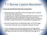 7 1 survey layout discussion