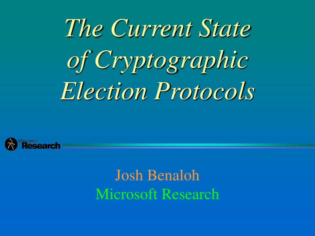 the current state of cryptographic election protocols l.