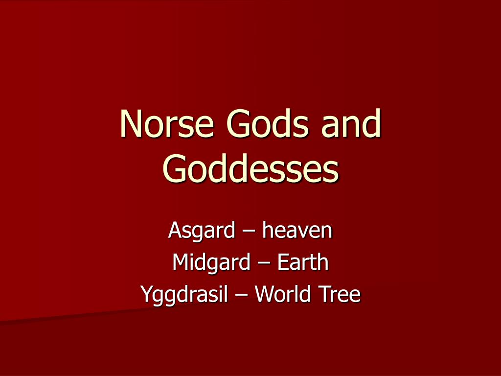 norse gods and goddesses l.