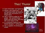 thor thunor