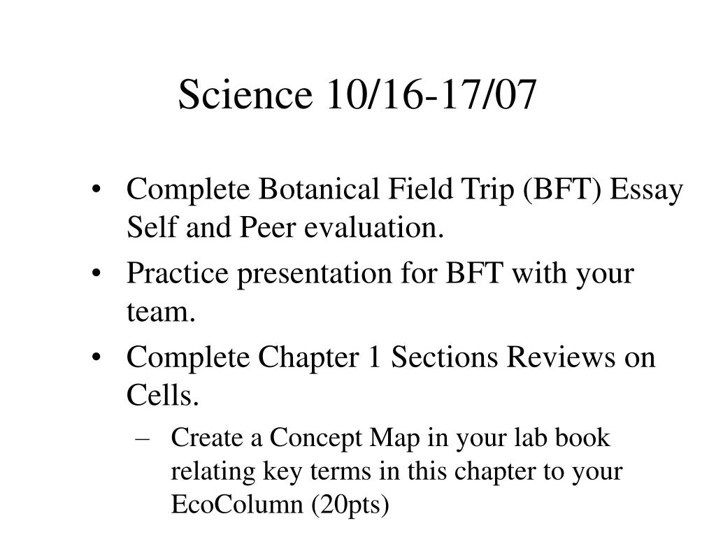 Science 10/16-17/07
