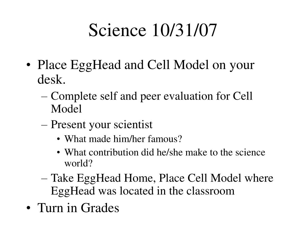 Science 10/31/07
