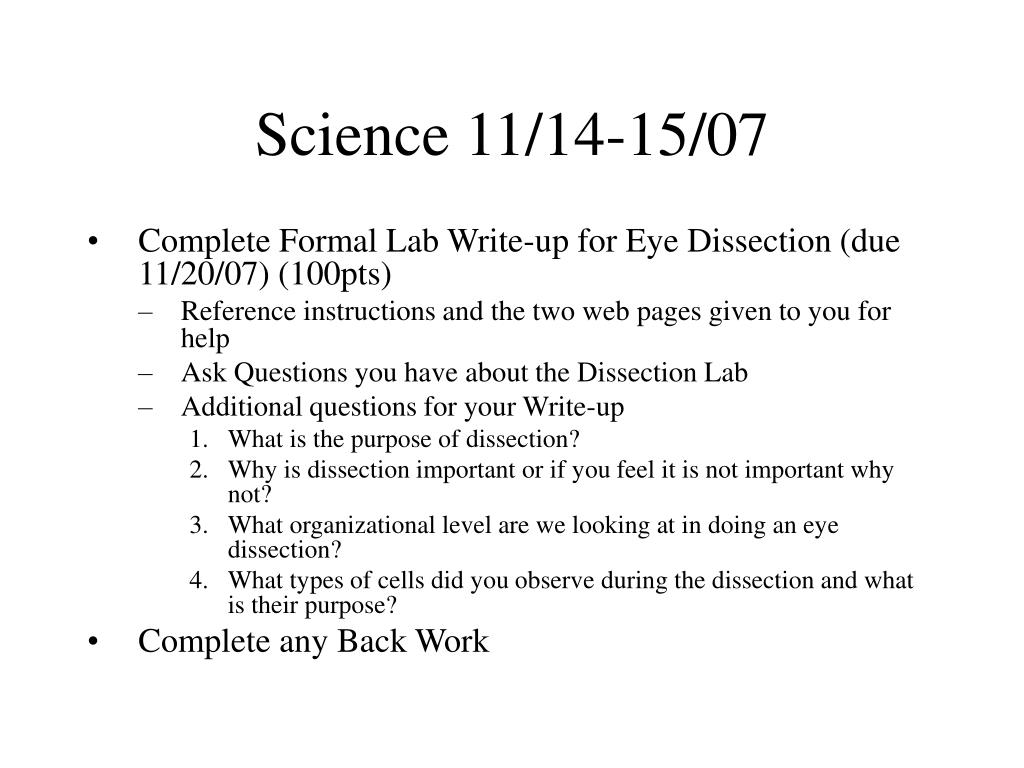 Science 11/14-15/07