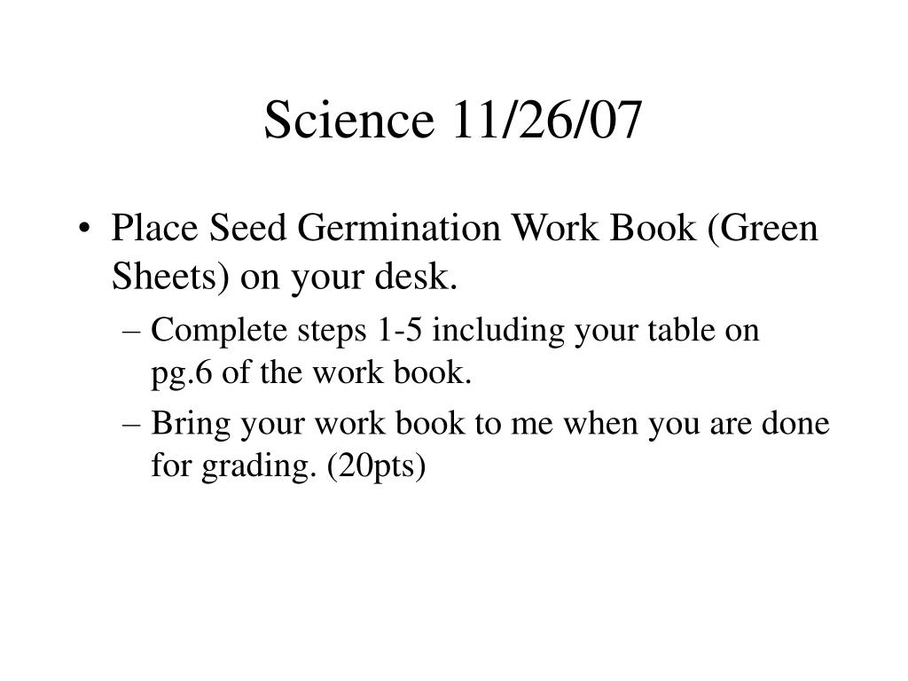 Science 11/26/07
